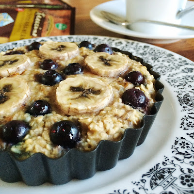 Banana Blueberry Baked Oatmeal