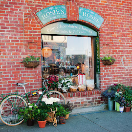 Rosie's by Marjean Jolley - City,  Street & Park  Markets & Shops ( #downbythewharf, #makesmehappy, #sanfrancisco, #cutestore, #roses )