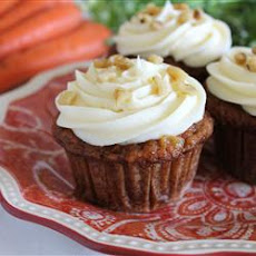 Carrot Cupcakes with White Chocolate Icing