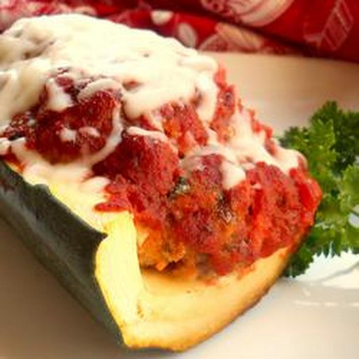 Italian Meatloaf in Zucchini Boats