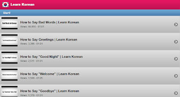Screenshot of Learn Korean Free