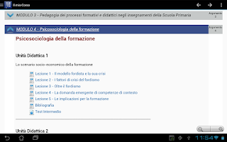 Screenshot of Mnemosine E-learning