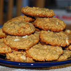 Five (Or Maybe Six) Ingredient Peanut Butter Oatmeal Cookies