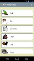 Screenshot of PetFood Safety