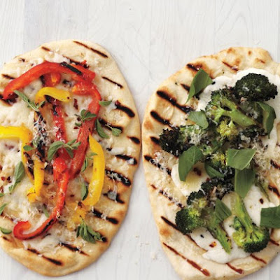 Pepper-Provolone Flatbread Pizzas