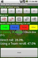 Screenshot of Blood Bowl Probability