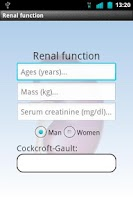 Screenshot of Renal function Free