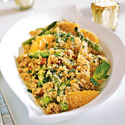 Quinoa Salad with Asparagus, Dates, and Orange