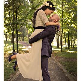 by Leo Coste - Wedding Bride & Groom ( love, wedding, bride and groom, people, leo coste,  )