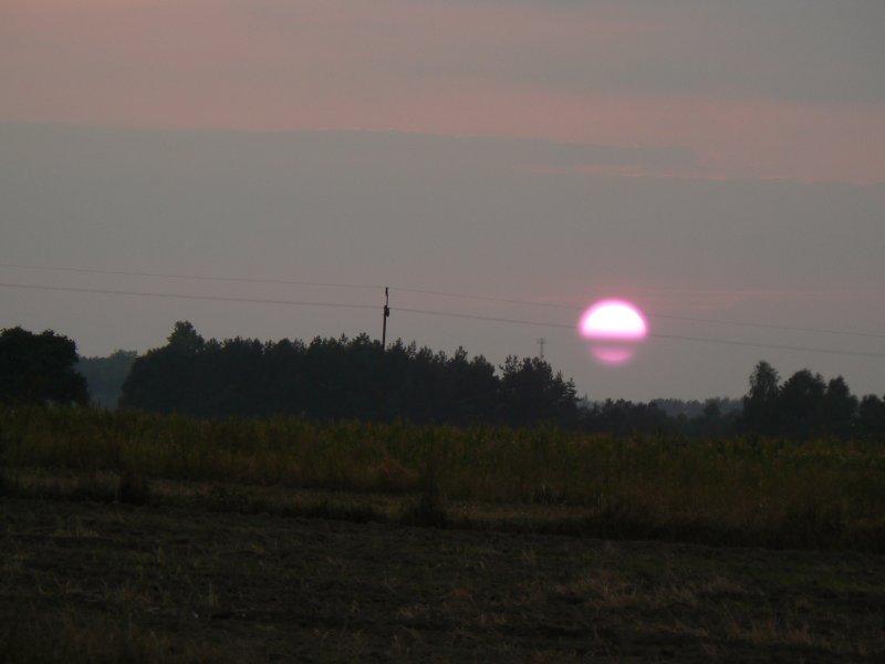 Zachód słońca za Świesielicami