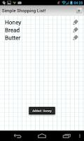 Screenshot of Simple Shopping List