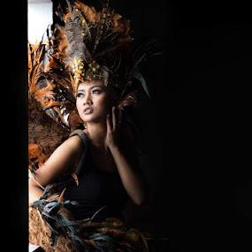 traditional custom by Yuni Herawati - People Fashion ( window, woman, traditional )