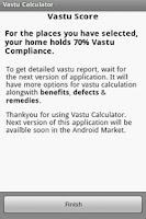 Screenshot of Vastu Calculator
