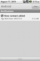 Screenshot of Push Contacts