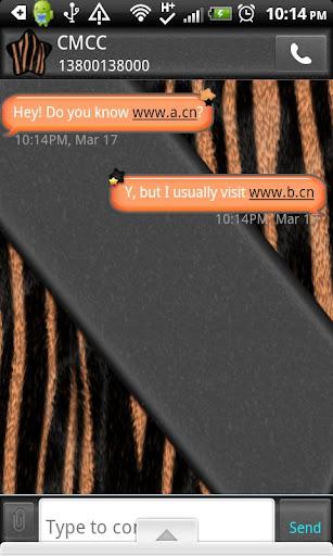 GO SMS THEME OrangeZebra1
