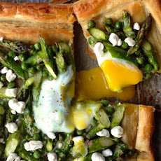 Asparagus and Egg Tart with Goat Cheese