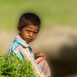 A baby on the field.. by Mukesh Chand Garg - Babies & Children Child Portraits