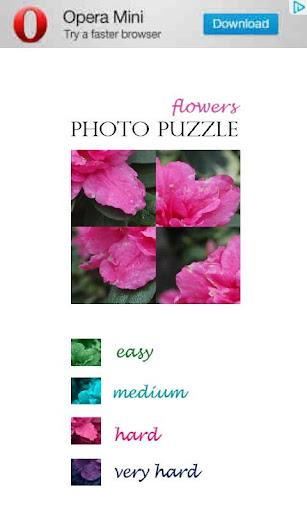 Photo Puzzle - Flowers free