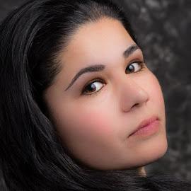 eyes by Rico Eche - People Portraits of Women ( studio, headshot, brunette, portrait, eyes )