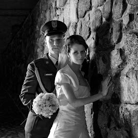 bride and groom by Pawel Czaja - Wedding Bride & Groom ( wedding photography, porttrait, bride, groom )