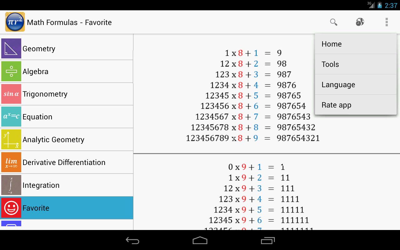 Maths Formulas Screenshot 13