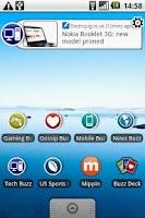 Screenshot of Tech Buzz Widget