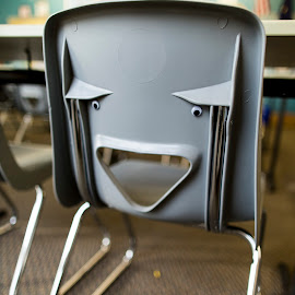 Chair Face by Bruce Wayne - Artistic Objects Furniture ( googly, classroom, face, chair, mouth, eyes )
