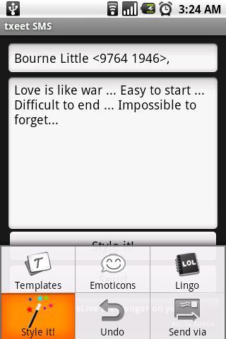 txeet: SMS Templates