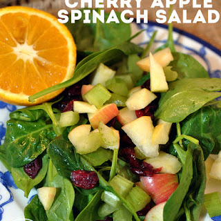 Dried Cherry Spinach Salad Recipes