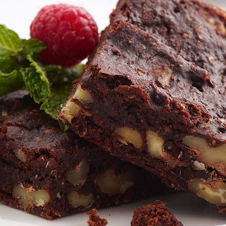 Spiced Medjool Date and Walnut Brownies