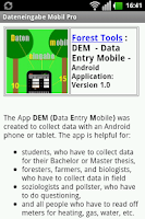 Screenshot of DEMPro - Data Entry Mobile Pro