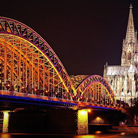 Cologne, Germany by Andie Andros - City,  Street & Park  Night