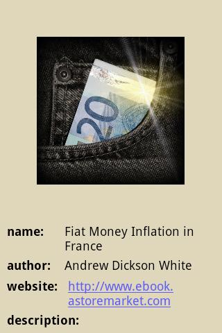 【免費書籍App】Fiat Money Inflation in France-APP點子