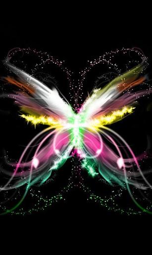 Neon Butterfly theme 480x800
