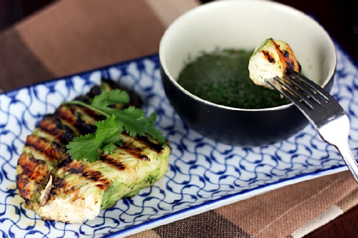 Warm Cilantro Dipping Sauce