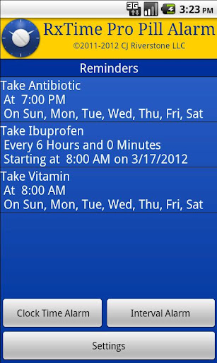 RxTime Pro Pill Reminder