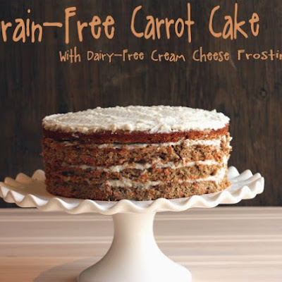Grain-Free Carrot Cake with Dairy-Free Cream Cheese Frosting