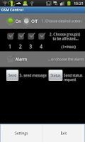 Screenshot of GSM Control