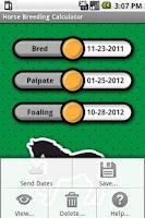 Screenshot of Horse Breeding Calculator