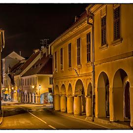Old town by Vanja Vidaković - City,  Street & Park  Night