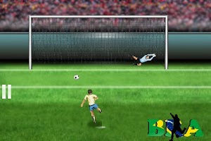 Screenshot of Euro Brazil 2014 Penalty Game