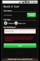 Screenshot of Online Cabs - Taxi Sri Lanka
