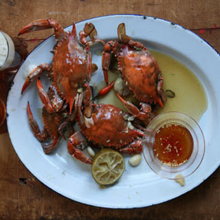 Beer-Steamed Crabs