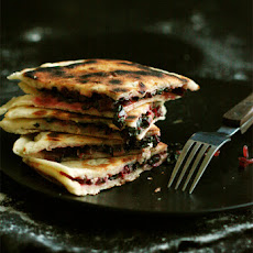 BEETROOT LEAF AND YOGHURT FLATBREADS