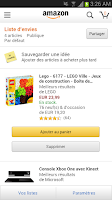 Screenshot of Amazon FR