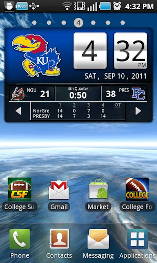 Kansas Jayhawks Live Clock