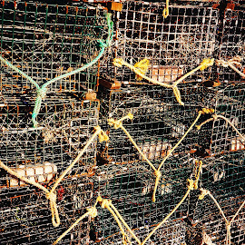 HELP I AM TRAPPED! by Walter Carlson - Abstract Patterns ( maine, abstracts., traps, lobster, high quality, in focus )