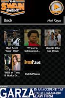 Screenshot of The Swain Event