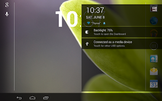 Screenshot of ThyrusHolo Black CM10 Theme