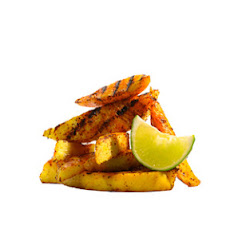 Chili-Dusted Grilled Mango and Pineapple